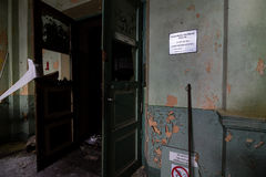 Binnen verlaten elektrische centrale Stock Foto's