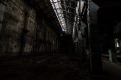 Binnen verlaten elektrische centrale Royalty-vrije Stock Afbeelding