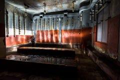 Binnen verlaten elektrische centrale Stock Foto