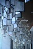 Binnen vierkante glasdecoratie Royalty-vrije Stock Foto's
