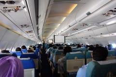 Binnen vliegtuig Royalty-vrije Stock Foto's