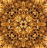 Binnenachtergronden van het gouden toestel werken Stock Afbeelding