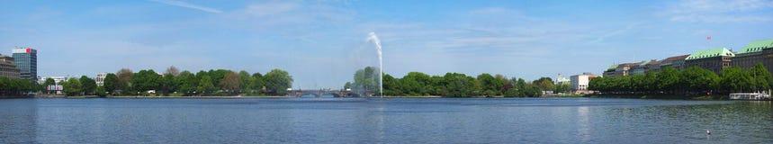 Binnenalster (内在Alster湖)在汉堡 免版税库存照片