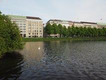 Binnenalster (内在Alster湖)在汉堡 库存照片
