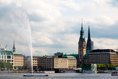 Binnenalster Royalty Free Stock Images