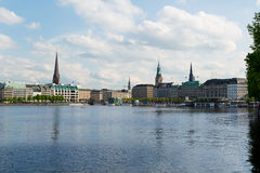 Binnenalster Royalty Free Stock Photography