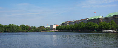 Binnenalster Inner Alster lake in Hamburg Stock Photo