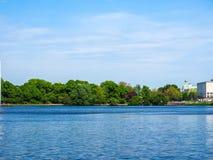 Binnenalster (lac intérieur Alster) dans le hdr de Hambourg Photo libre de droits