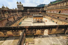 Binnenamber fort rajasthan Royalty-vrije Stock Foto