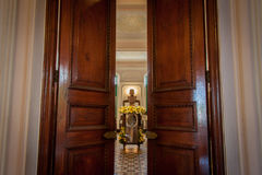 Binnenarchitectuur van Chao Phya Abhaibhubejhr Royalty-vrije Stock Foto's
