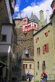 Binnenbinnenplaats van Eltz-Kasteel, Rijnland-Palatinaat, Duitsland royalty-vrije stock foto