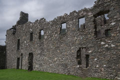 Binnenbinnenplaats van Kilchurn-Kasteel, Loch Ontzag, Argyll en Bute, Schotland Stock Afbeeldingen