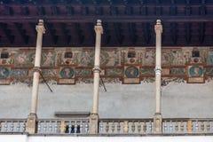 Binnenbinnenplaats in Wawel-kasteel Royalty-vrije Stock Afbeeldingen