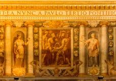 Binnencastel sant 'Angelo royalty-vrije stock afbeeldingen