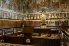 Binnenchapterhouse van Kathedraal in Toledo Spain stock afbeeldingen