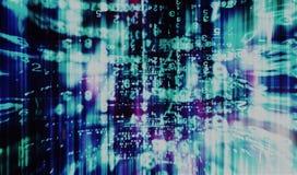Binnencomputermatrijs doorweven uitstekende abstractie Royalty-vrije Stock Foto