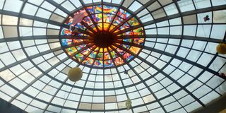 Binnendecoratie van Basundhara-Stadswinkelcomplex royalty-vrije stock afbeeldingen