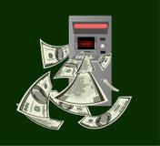 Binnendrongen in een beveiligd computersysteem ATM Stock Afbeelding