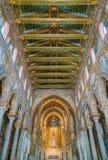 Binnengezicht in de Kathedraal van Monreale, in de provincie van Palermo Sicilië, zuidelijk Italië stock foto