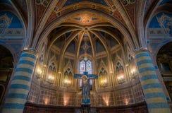 Binnengezicht in Sant Andrea Church in Spello, Umbrië, Italië royalty-vrije stock afbeeldingen