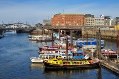 Binnenhafen, Αμβούργο, Γερμανία Στοκ εικόνες με δικαίωμα ελεύθερης χρήσης