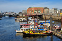 Binnenhafen Hamburg, Tyskland Royaltyfria Bilder