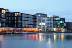Binnenhaven in Munster, Duitsland Stock Foto