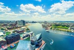 Binnenhaven van Baltimore, Maryland royalty-vrije stock foto