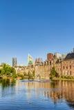 Binnenhof和地平线在海牙 免版税库存图片