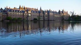 Binnenhof - голландский парламент, Голландия сток-видео