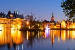 Binnenhof - голландский парламент, Голландия Стоковая Фотография