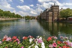 Binnenhof -荷兰语议会和政府 库存图片