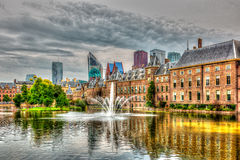 Binnenhof on a cloudy day Stock Photos