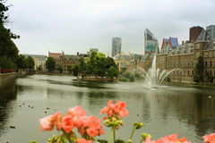 The Binnenhof is a complex of buildings in the city centre of Th Stock Photo