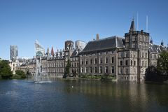 Binnenhof dans la ville de Den Haag, Pays-Bas images stock