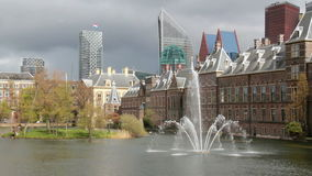 Binnenhof in Den Haag, Holland stock video