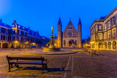 Binnenhof - Dutch Parliament and Government at Night Royalty Free Stock Photography