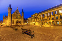 Binnenhof - Dutch Parliament and Government at Night Stock Photos