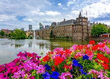 Binnenhof Dutch parliament, Hague, Netherlands stock images