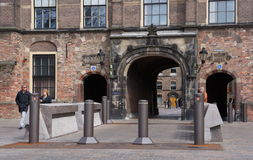 Binnenhof entrance - Dutch Parliament and Government Royalty Free Stock Photography