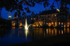 Binnenhof entro la notte Fotografie Stock