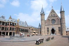 The Hague - Binnenhof - centre of Dutch politics with Ridderzaal and House of The Senate Stock Image
