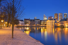 Binnenhof in The Hague, The Netherlands at night Stock Photo