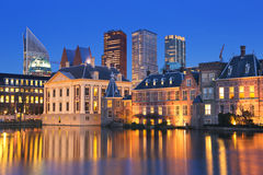 The Binnenhof in The Hague, The Netherlands at night Stock Photography