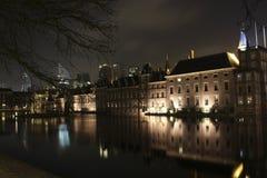 Binnenhof at the hofvijver. In the hague stock photos