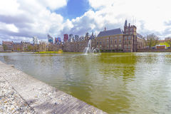Binnenhof and Hofvijver in The Hague Royalty Free Stock Photo