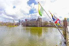 Binnenhof and Hofvijver in The Hague Royalty Free Stock Photos