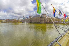 Binnenhof and Hofvijver in The Hague Stock Photos