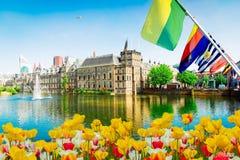 Binnenhof - holländsk parlament, Holland royaltyfria bilder