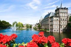 Binnenhof - holländsk parlament och regering Arkivfoto